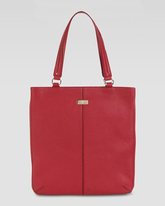 Village Flat Tote Bag, Cherry