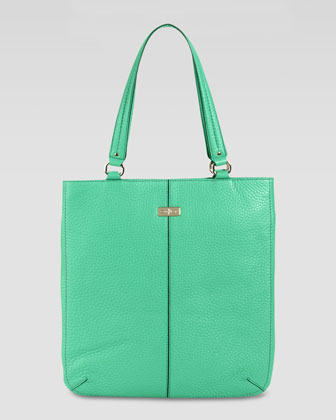 Village Flat Tote Bag, Green