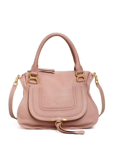 Marcie Medium Satchel Bag, Pink