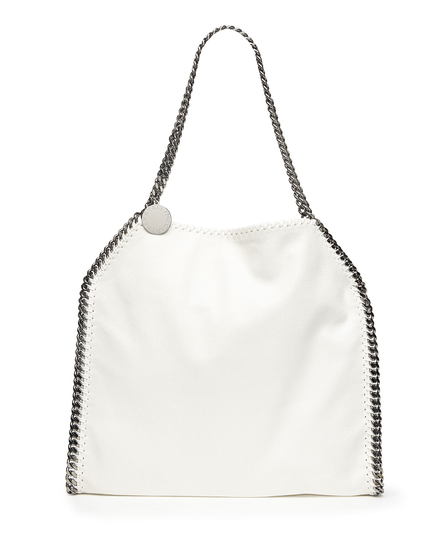 Falabella Baby Bella Shoulder Bag, White