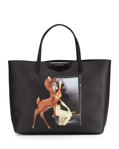 Antigona Large Shopping, Tote, Bambi Print