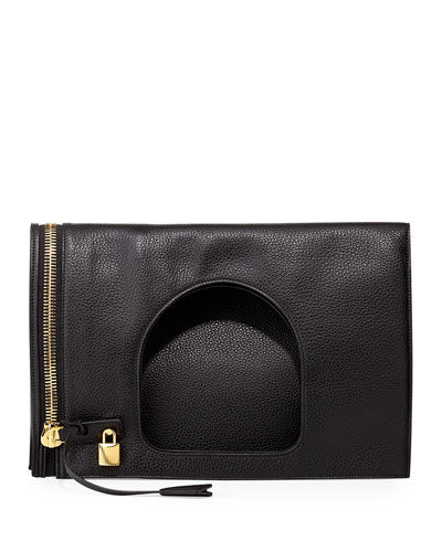 Alix Leather Padlock & Zip Shoulder Bag