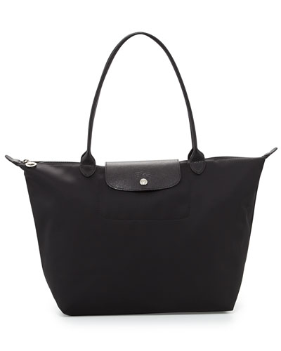 Le Pliage Néo Large Nylon Tote Bag, Black