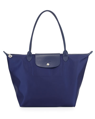 Le Pliage Neo Large Nylon Shoulder Tote Bag, Navy