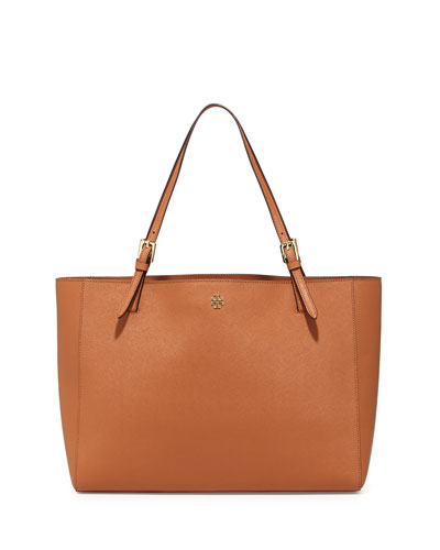 York Saffiano Leather Tote Bag, Luggage