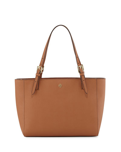 York Small Saffiano Tote Bag, Luggage