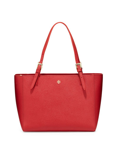 York Small Saffiano Tote Bag, Kir Royale