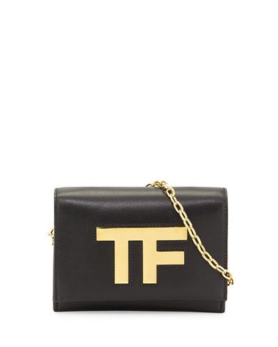 TF Small Chain Crossbody Bag, Black
