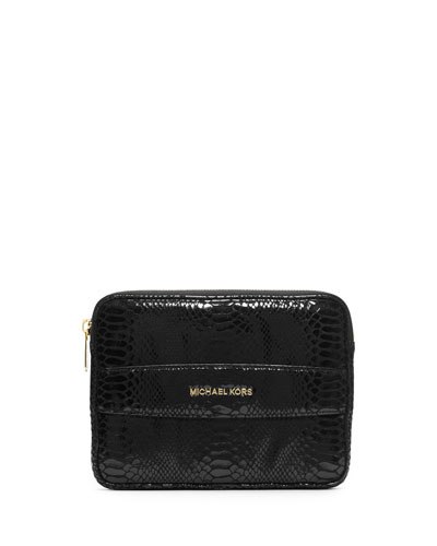 Mini Tablet Clutch Bag, Black