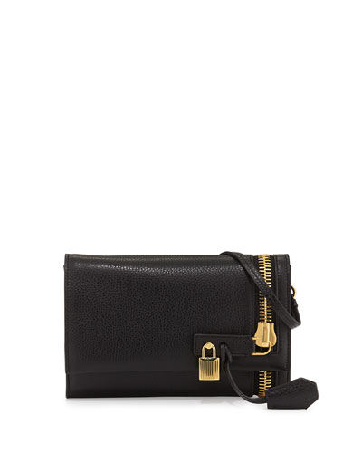 Alix Small Zip & Padlock Crossbody Bag