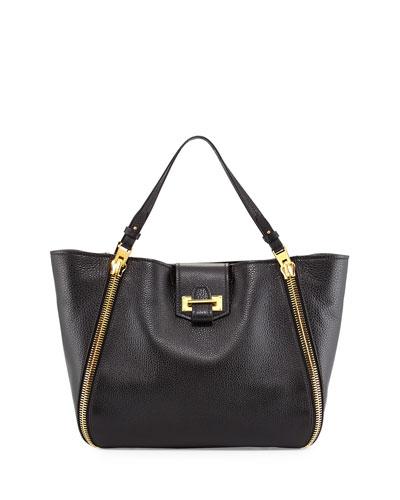 Sedgwick Medium Zip Tote Bag, Black