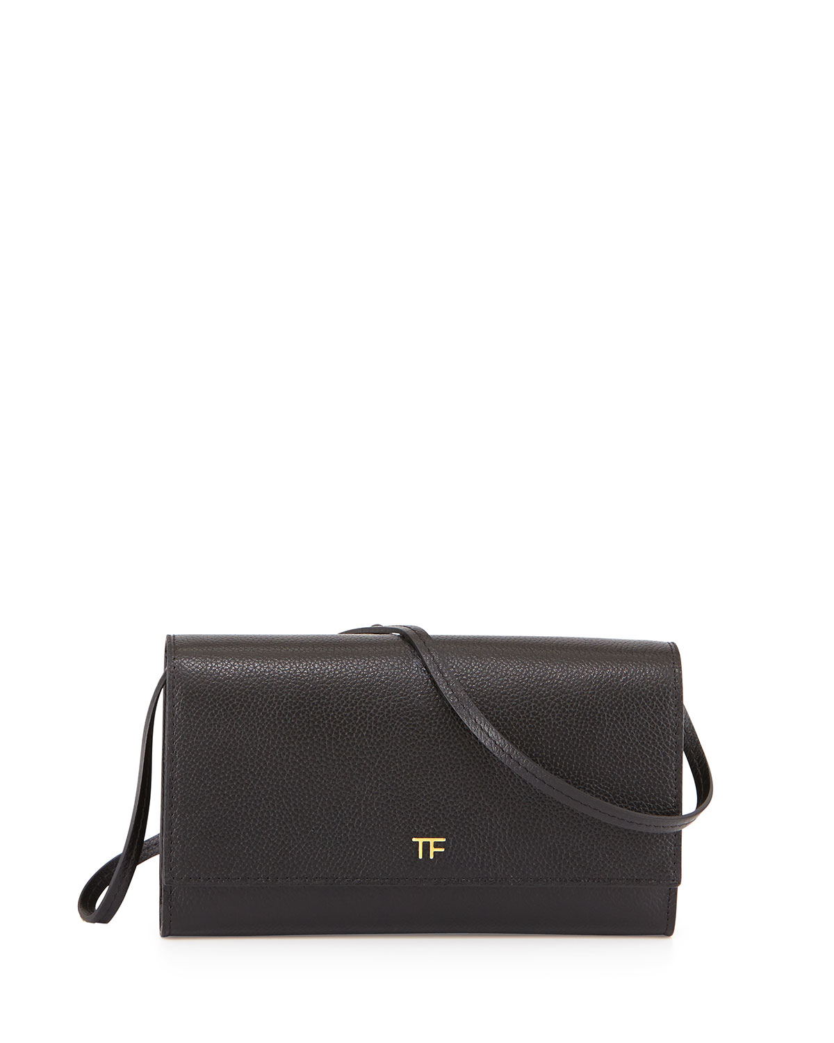 Leather Wallet-on-Chain, Black