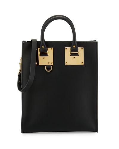 Albion Mini Leather Tote Bag, Black