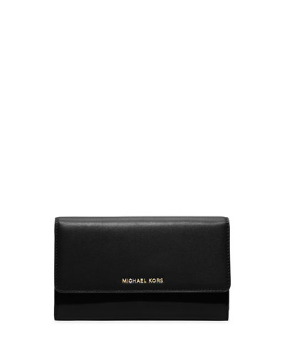 Colby Carryall Clutch Bag, Black