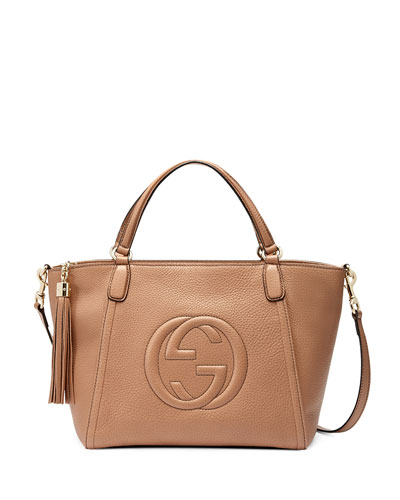 Soho Small Crossbody Tote, Beige