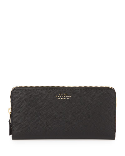 Panama Large Zip Wallet, Black