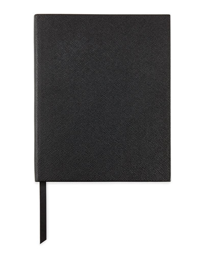 Leather Manuscript Book, Black