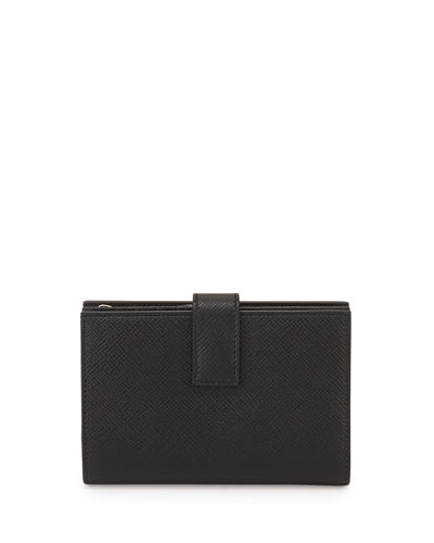 Panama Medium Continental Wallet, Black