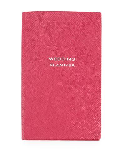 Smythson Wedding Planner Panama Notebook, Fuchsia
