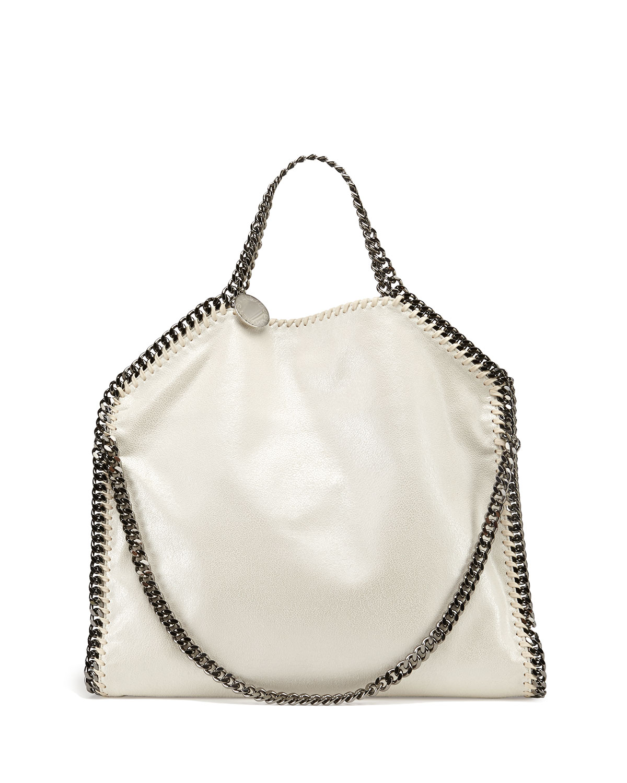 Falabella Small Fold-Over Tote Bag, White