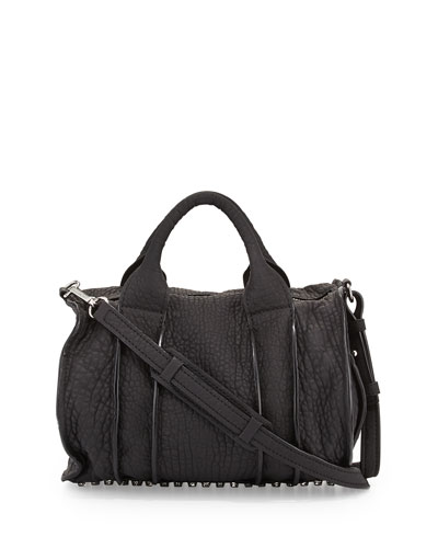 Rocco Inside-Out Satchel Bag, Black