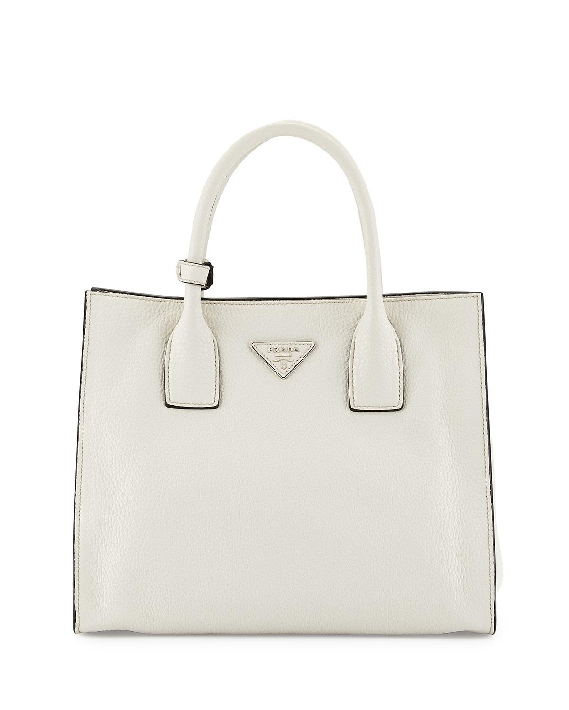 Daino Tote Bag, White (Talco)