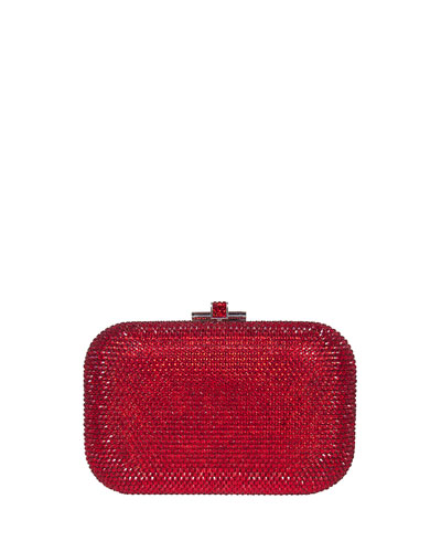 Crystal Slide-Lock Clutch Bag, Siam