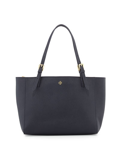 York Small Saffiano Tote Bag, Tory Navy