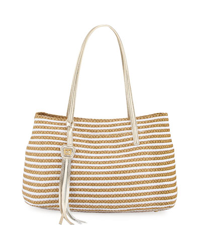 Dame Brooke Squishee Tote Bag, White/Mix