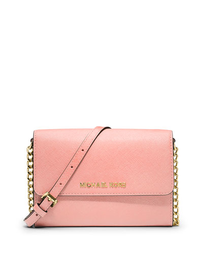 Jet Set Travel Large Crossbody Bag, Pale Pink
