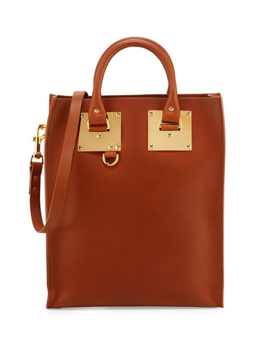 Albion Mini Leather Tote Bag, Tan