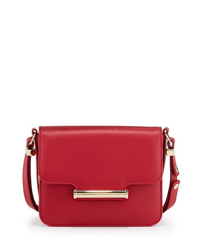 Diane Small Flap Crossbody Bag, Red