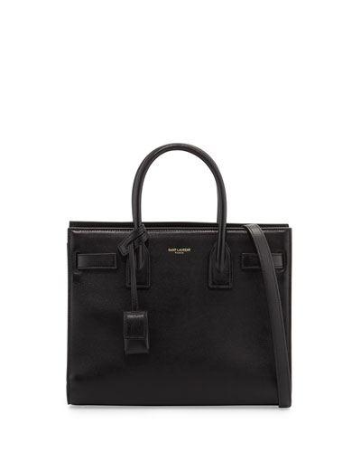 Sac de Jour Nano Smooth Leather Tote Bag, Nero Black