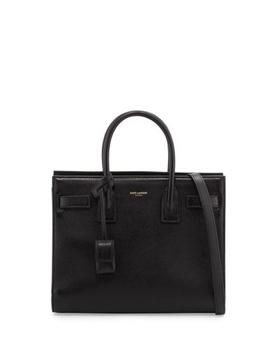 Sac de Jour Baby Smooth Leather Tote Bag, Nero Black