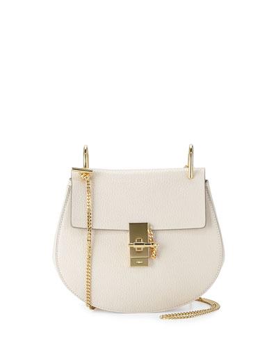 Drew Small Shoulder Bag, Off White