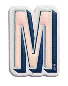 """M"" Leather Sticker for Handbag"