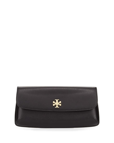 Diana Flap Clutch Bag, Black