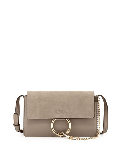 Faye Small Suede Shoulder Bag