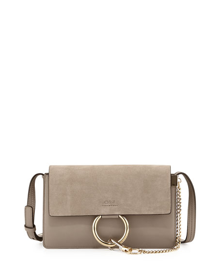 Chloe Faye Small Suede Shoulder Bag