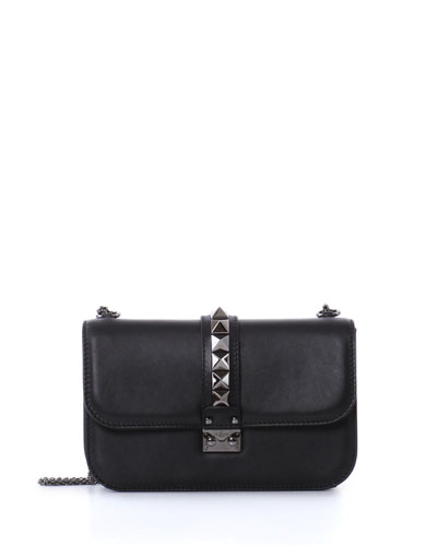 Medium Lock Shoulder Bag, Black