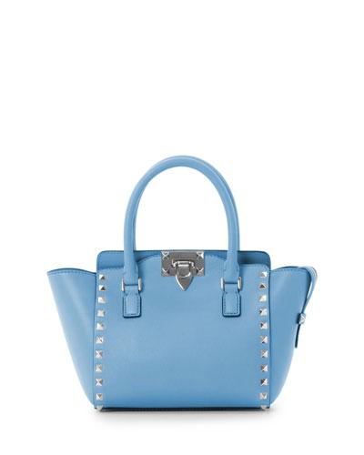 Micro Mini Shopper Bag, Parrot Blue