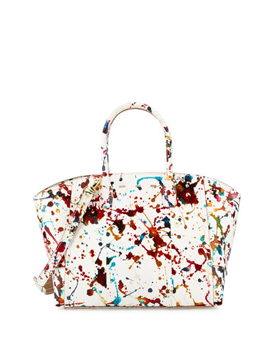 Brera 30 Sport Python Satchel Bag, Multicolor