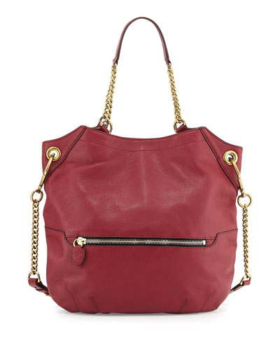 Selina Chain Shoulder Bag, Burgundy