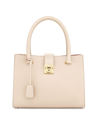 Juliette Lock Story Tote Bag, New Bisque