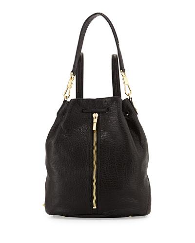 Cynnie Leather Sling Bag, Black