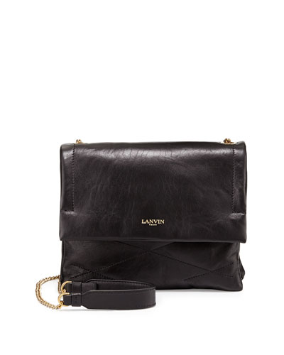 Sugar Mini Lambskin Shoulder Bag, Black