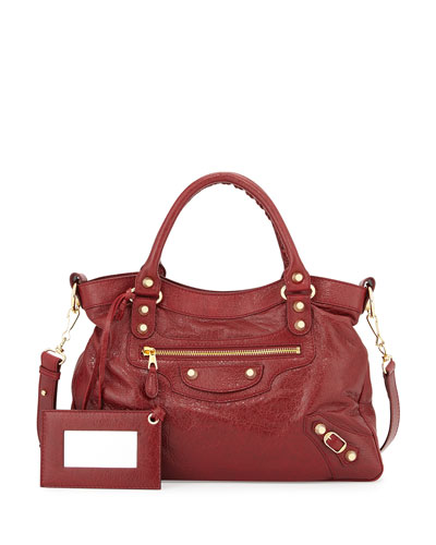 Giant 12 Town Bag, Dark Red