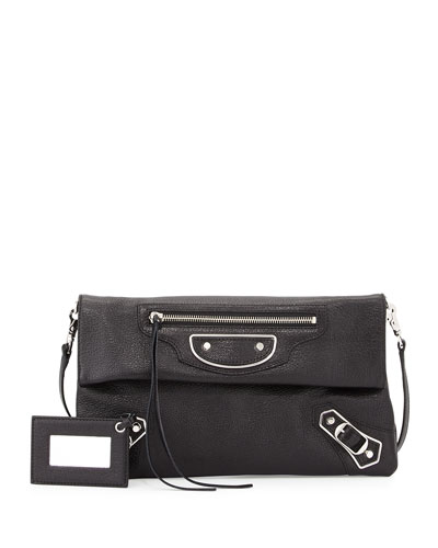 Metallic Edge Envelope Crossbody Bag