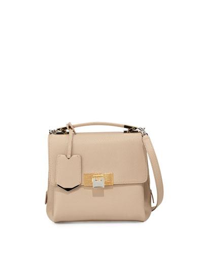 Le Dix Soft Mini Cartable Bag, Beige