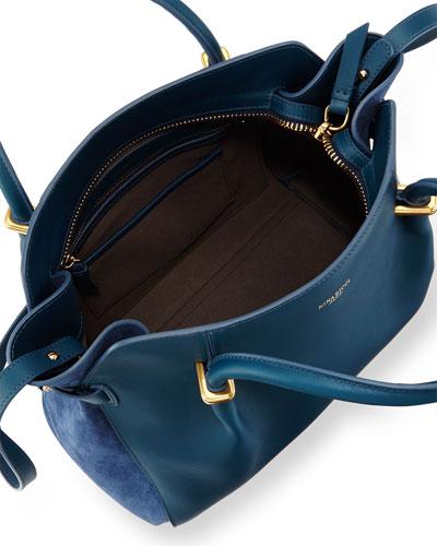 ysl leather tote bag - Blue Logo Satchel   Neiman Marcus